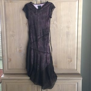 NWOT Girls Brown Asymmetrical Formal Dress